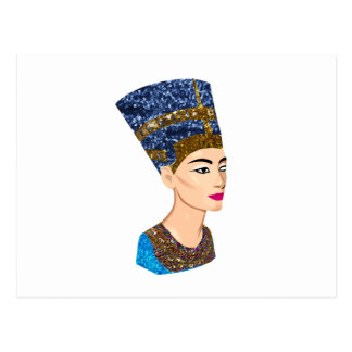 egyptian queen nefertiti postcard