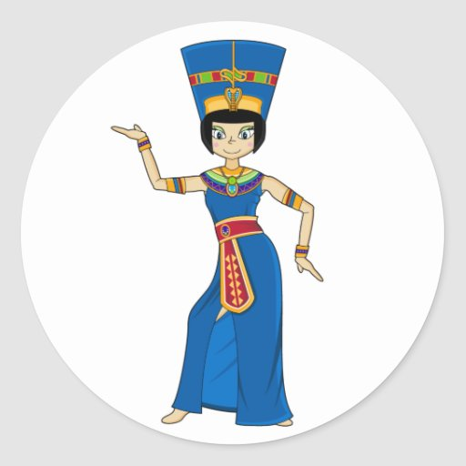 Egyptian Queen Nefertiti Sticker