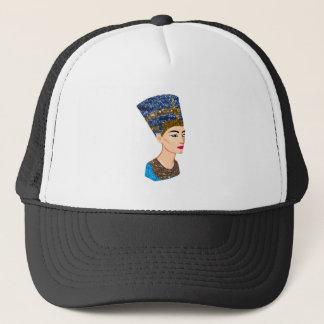 egyptian queen nefertiti trucker hat