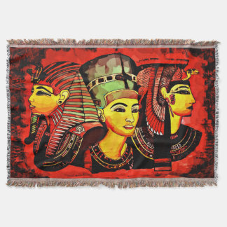 Egyptian Queens Throw Blanket 4 ملكات مصر