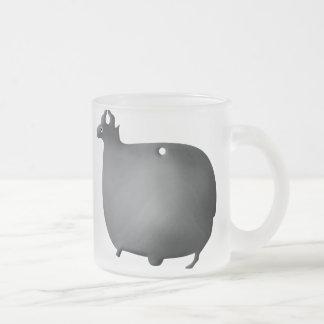 Egyptian Ram 10 Oz Frosted Glass Coffee Mug