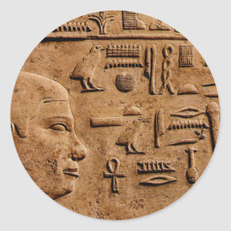 EGYPTIAN Relief Art Gift Items Classic Round Sticker
