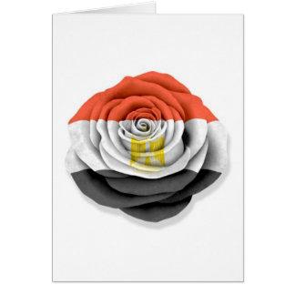 Egyptian Rose Flag on White Card