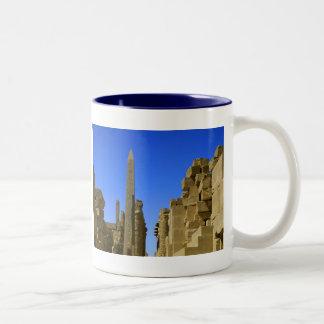 Egyptian Ruins Karnack Two-Tone Coffee Mug