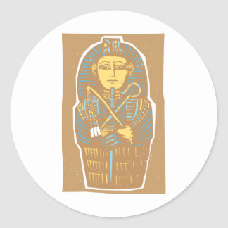 Egyptian Sarcophagus Classic Round Sticker