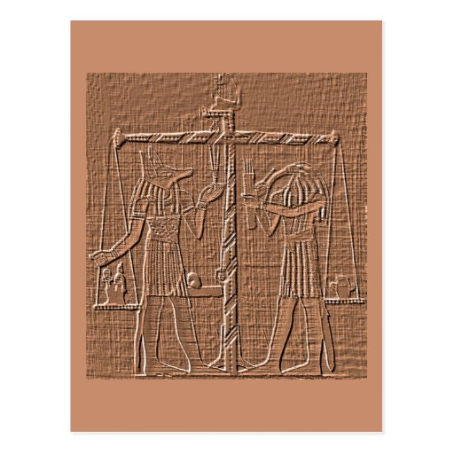 Egyptian Scales of Life Hieroglyph Postcard