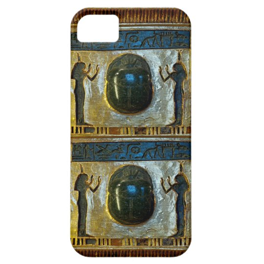Egyptian Scarab Amulet with Isis iPhone SE/5/5s Case