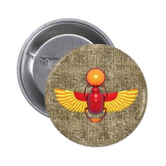 Egyptian Scarab Pinback Button