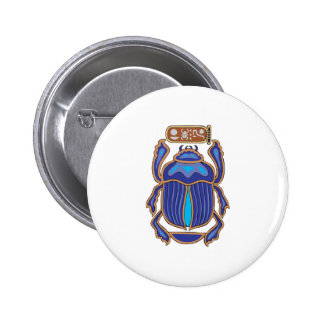Egyptian Scarab Dung Dung Beetle Button