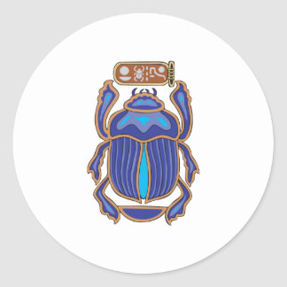 Egyptian Scarab Dung Dung Beetle Round Stickers
