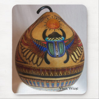Egyptian Scarab on Gourd Mouse Pad