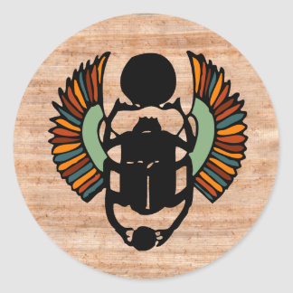 Egyptian Scarab Seal Classic Round Sticker