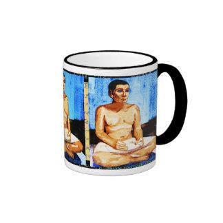 Egyptian Scribe Ringer Coffee Mug