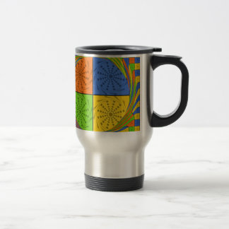 Egyptian Seamless set fabric pattern 15 Oz Stainless Steel Travel Mug