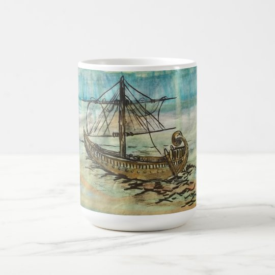 Egyptian Ship Barque of the Sun Mug