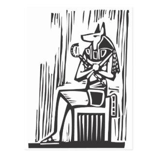 Egyptian Sitting Anubis Postcard