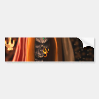 Egyptian Skull Bride Art with Nose Ring and Beads Car Bumper Sticker