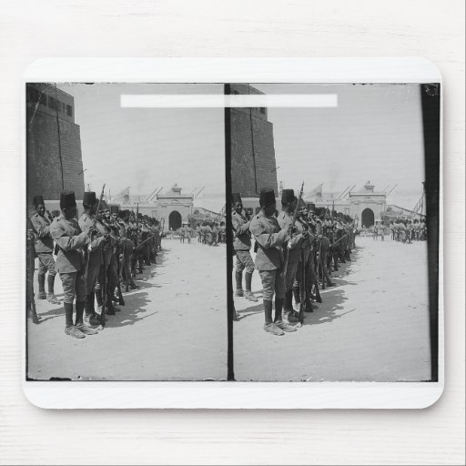 Egyptian soldiers in the Citadel, Cairo c.1900 Mouse Pad