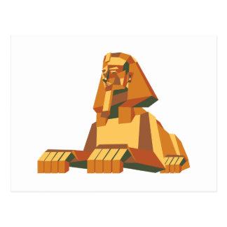 egyptian Sphinx creature Postcard