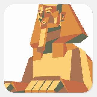 egyptian Sphinx creature Square Sticker