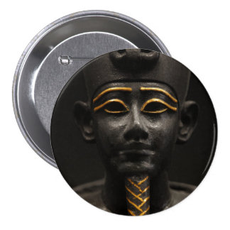 Egyptian Statue of Osiris Button