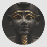 Egyptian Statue of Osiris Classic Round Sticker