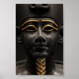 Egyptian Statue of Osiris Poster