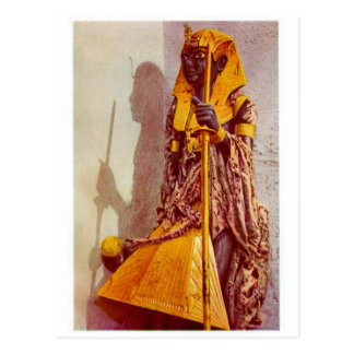 egyptian statue postcard