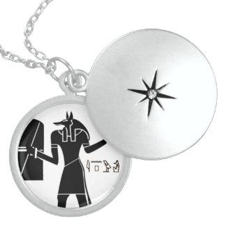 Egyptian Sterling Silver God Anubis Pendant