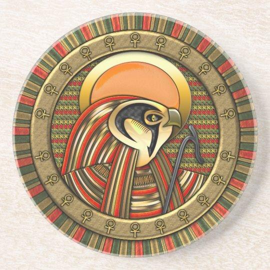 Egyptian Sun God Ra Sandstone Coaster