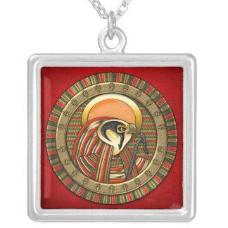 Egyptian Sun God Ra Silver Plated Necklace