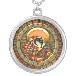 Egyptian Sun God Ra Silver Plated Necklace
