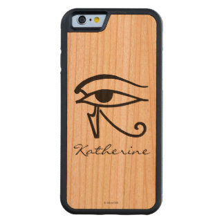 Egyptian Symbol: Utchat Carved® Cherry iPhone 6 Bumper