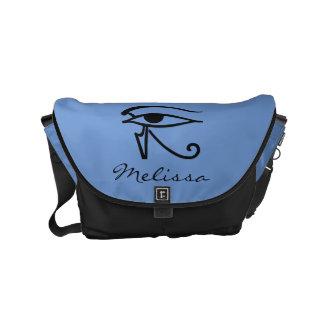 Egyptian Symbol: Utchat Small Messenger Bag