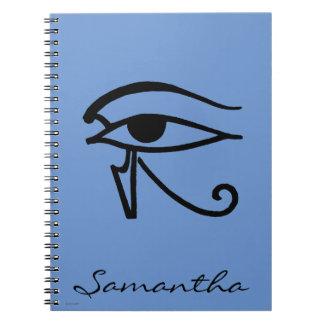 Egyptian Symbol: Utchat Spiral Notebook