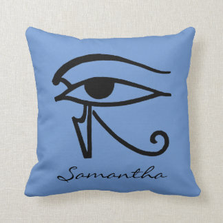 Egyptian Symbol: Utchat Throw Pillow