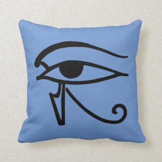 Egyptian Symbol: Utchat Throw Pillows