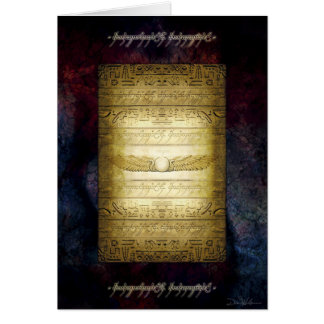 Egyptian Tablet Greeting Card