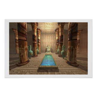 EGYPTIAN TEMPLE PRINT