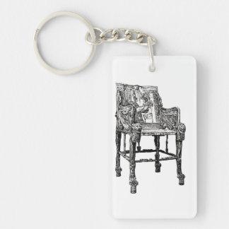 Egyptian Throne chair Keychain
