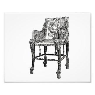 Egyptian Throne chair Photo Print