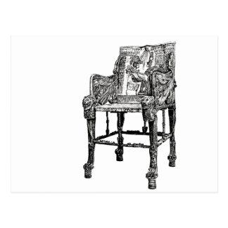 Egyptian Throne chair Postcard