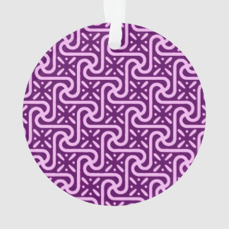 Egyptian tile pattern, amethyst and orchid ornament