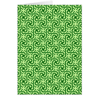 Egyptian tile pattern, emerald and lime green stationery note card