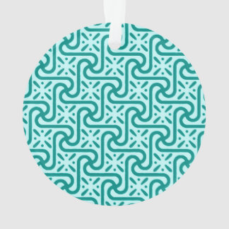 Egyptian tile pattern, turquoise and aqua ornament