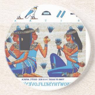 Egyptian tomb of Nakht Beverage Coaster