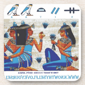 Egyptian tomb of Nakht Beverage Coasters