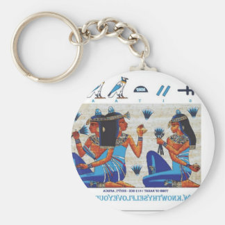 Egyptian tomb of Nakht Keychains