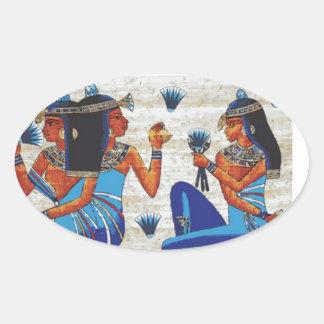 Egyptian tomb of Nakht Oval Sticker