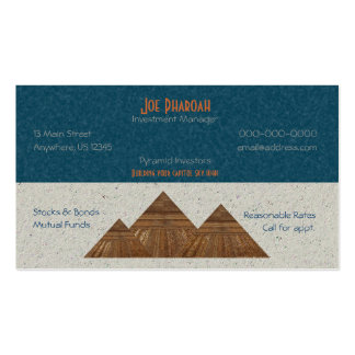 Egyptian Topaz Golden Pyramid Abstract Art Double-Sided Standard Business Cards (Pack Of 100)